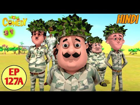 Motu Patlu | Commando Training | Cartoon in Hindi for Kids | Funny Cartoon Video thumbnail