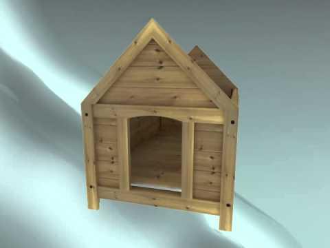 Caseta para perros en madera montaje caseta econ mica for Casetas para perros aki