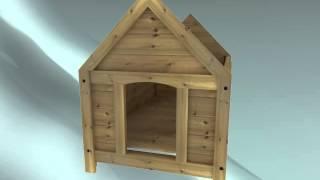 Caseta para perros en madera, montaje. Caseta económica para perros. www.casetas-para-perros.com