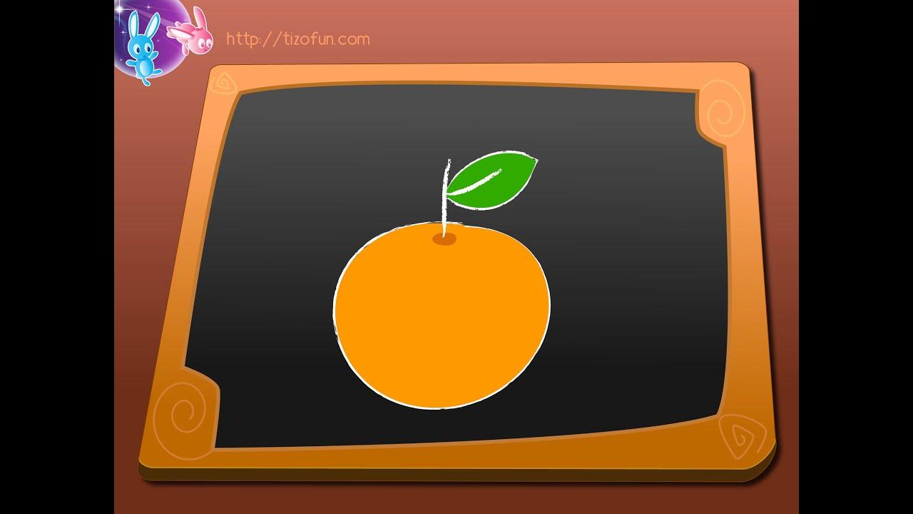 apprendre a dessiner une orange dessin enfants et d butants youtube. Black Bedroom Furniture Sets. Home Design Ideas