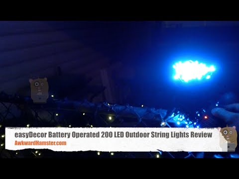 Easydecor battery operated 200 led outdoor string lights review easydecor battery operated 200 led outdoor string lights review workwithnaturefo