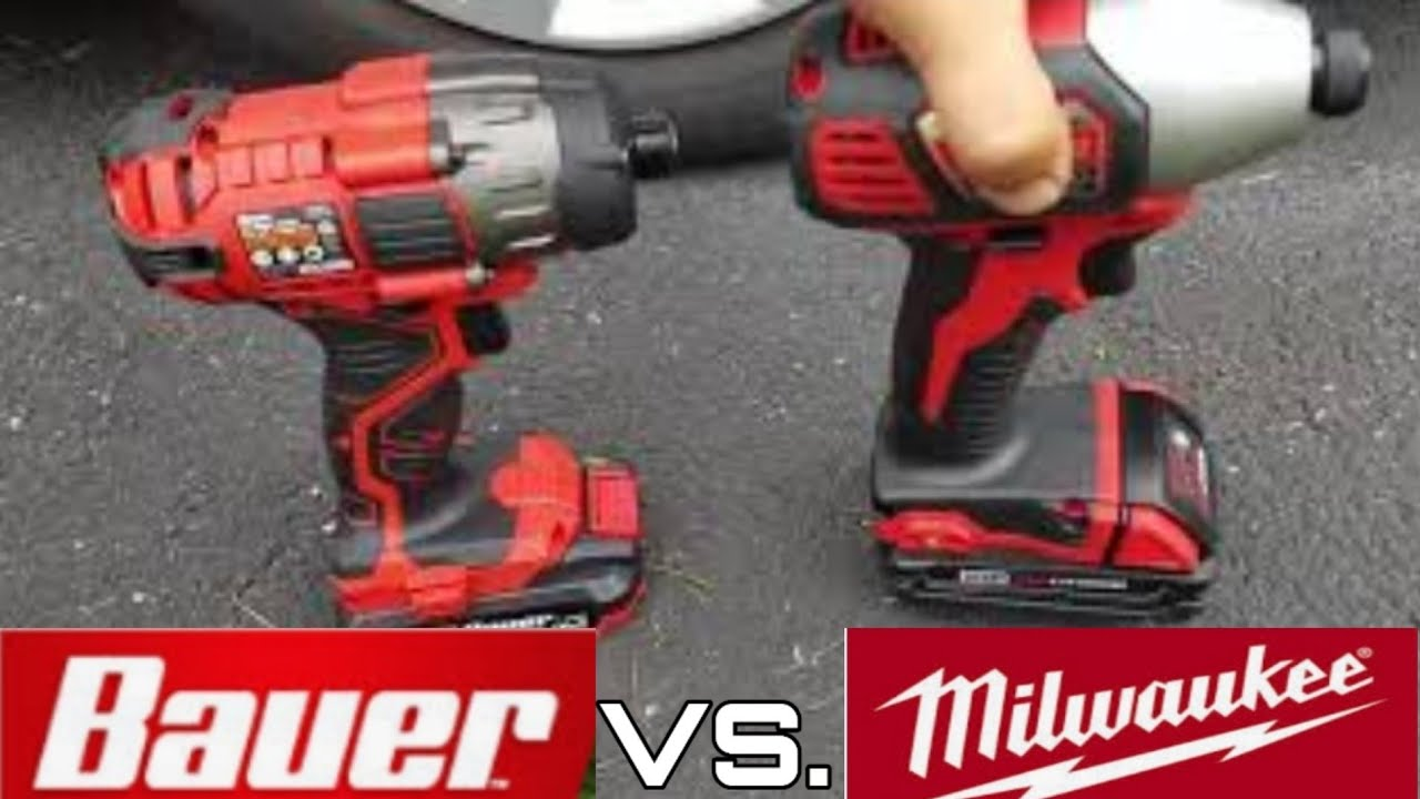 harbor freight bauer 20v impact vs milwaukee 18v impact driver lug nut torque challenge youtube. Black Bedroom Furniture Sets. Home Design Ideas