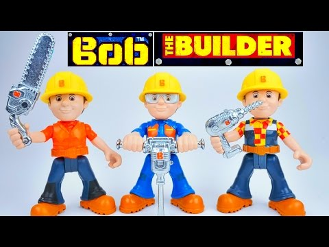 BOB THE BUILDER TOYS SCOOP AND MAGIC SURPRISE EGG MAKE BOB BIG WITH NEW TOOLS!!