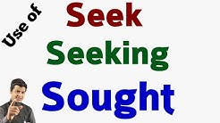 Use of seek & sought | sought uses & examples | English with Taukir Alam | English Speaking video