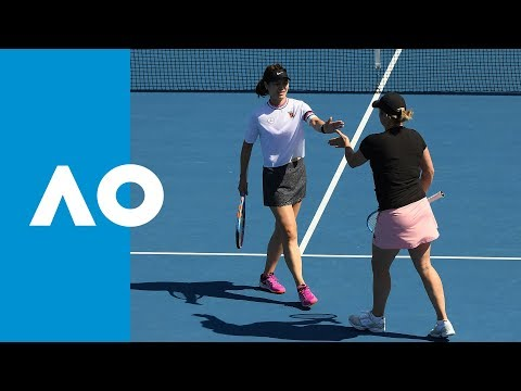 Clijsters/Li v Bradtke/Fernandez match highlights (1R) | Australian Open 2019