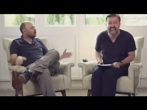KARL PILKINGTON AND RICKY GERVAIS INTERVIEW VERY FUNNY!