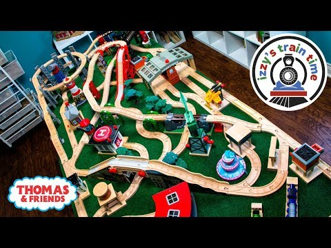 Thomas and Friends   DAD BUILDS A HUGE TRACK! Thomas Train with Brio and Imaginarium
