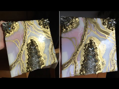 ROSE GOLD - GEODE Epoxy Resin Art Demo by Dianka Pours