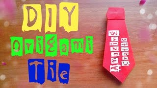 DIY How To Fold Paper TIE Easy. Origami Tutorial For Kids And Beginners. Fathers Day Gifts and Ideas