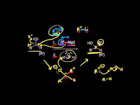 Addition of carbon nucleophiles to aldehydes and ketones   Organic chemistry   Khan Academy