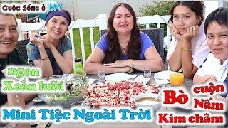 ❀//Vlog 237// Mini Tiệc Nướng Ngoài Trời - Bò Cuộn Nấm Kim Châm, Salad - Và Cái Kết...