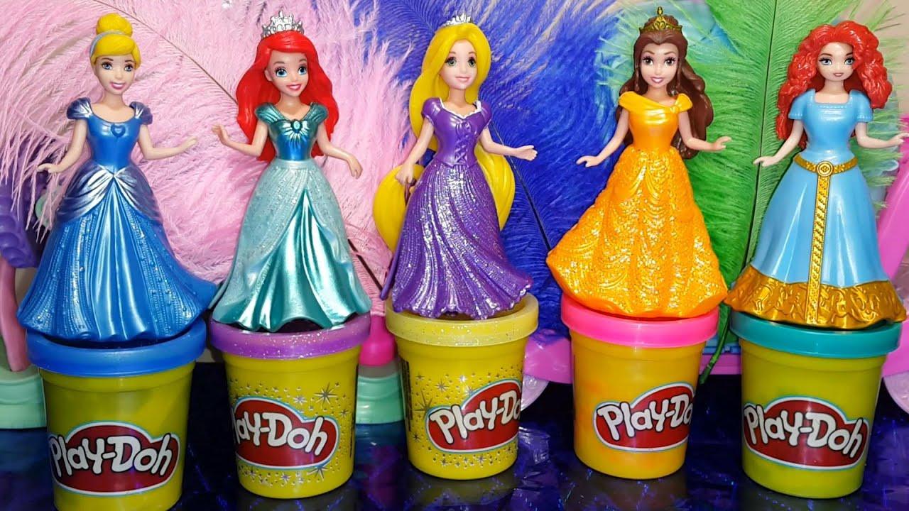 Disney Princess Play Doh Magiclip Fashion Dresses Принцессы Дисней Создай Бальные платья|одевалки девушки мода
