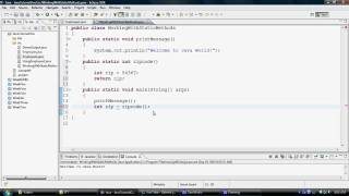 Java Tutorial: Working With Static Methods 1
