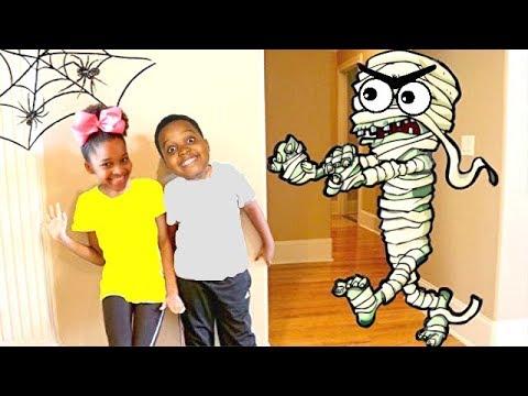 HALLOWEEN MUMMY vs Shasha and Shiloh  yx Kids