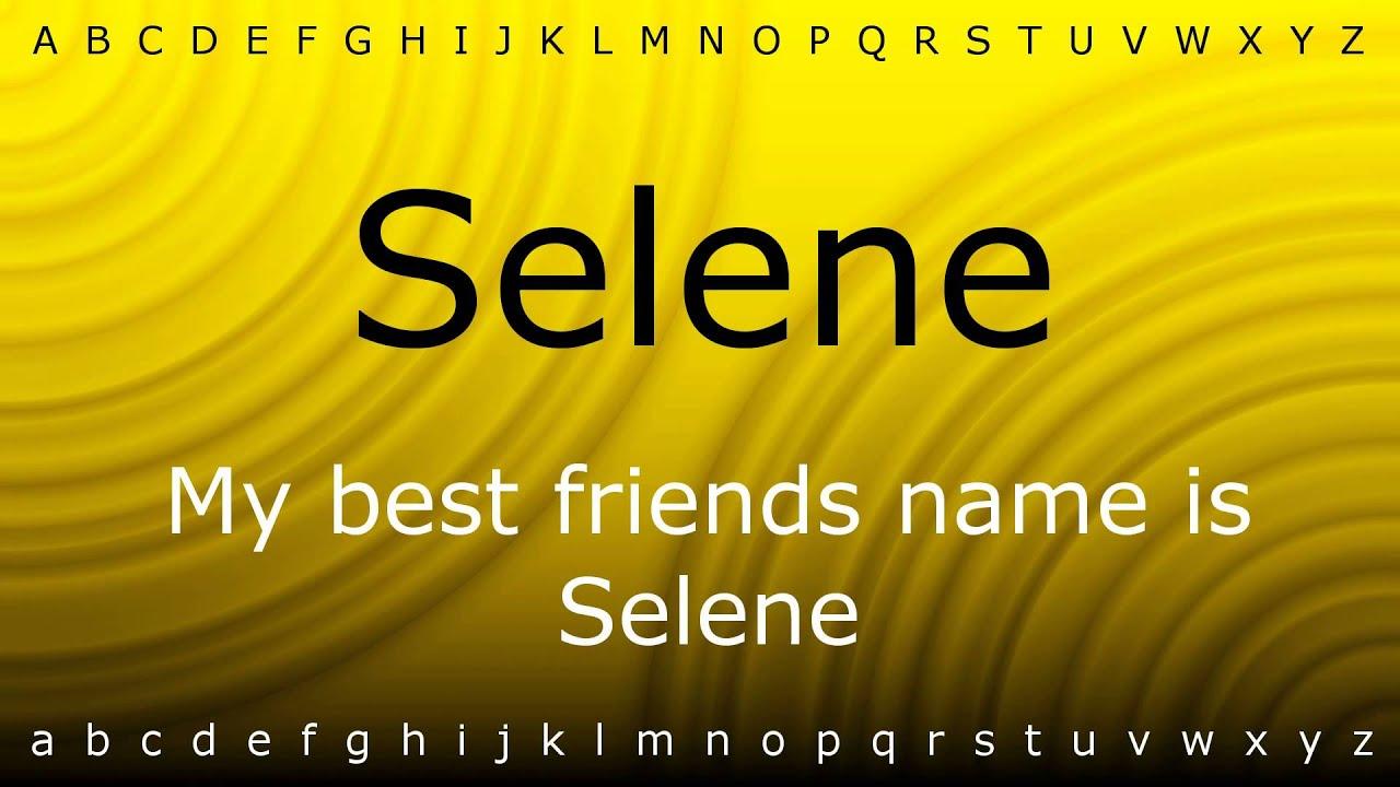 selene pronunciation