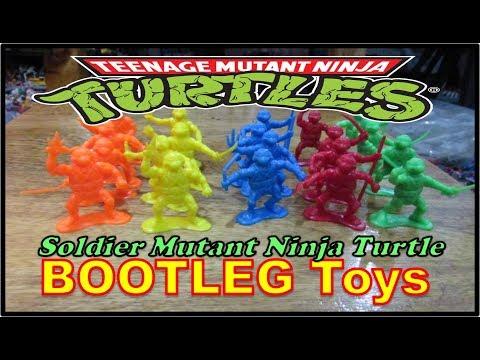 TEENAGE MUTANT NINJA TURTLES Bootleg Toys   Soldier Mutant Ninja Turtle   Army Men