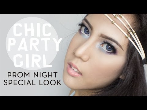 Prom Night U0026quot;Chic Party Girlu0026quot; Makeup Tutorial - YouTube
