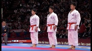 (1/2) Karate Japan vs Italy. Final Male Team Kata. WKF World Karate Champions 2012. 空手日本