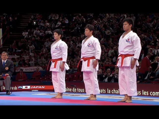 (1/2) Karate Japan vs Italy. Final Male Team Kata. WKF World Karate Champions 2012. ????