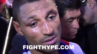 KELL BROOK POST-FIGHT INTERVIEW WHILE LEAVING THE RING AFTER BEATING SHAWN PORTER