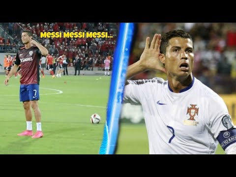 This Is What Cristiano Ronaldo Does When Fans Chant Messi To Him !!!