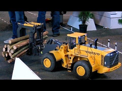Vídeo Para Niños Maquinas RC Radio Control Construcción Camión Excavadora Tractor Obras Juguetes RC