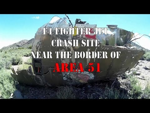 Fighter Jet Crash Site Near Area 51, May 2016