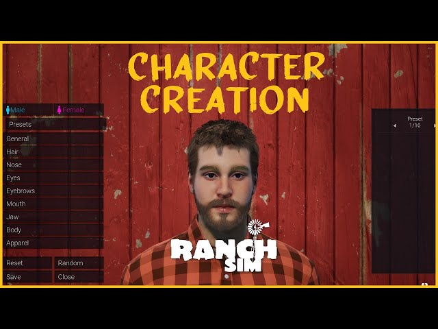 Ranch Sim's Character Creator: In-depth Look