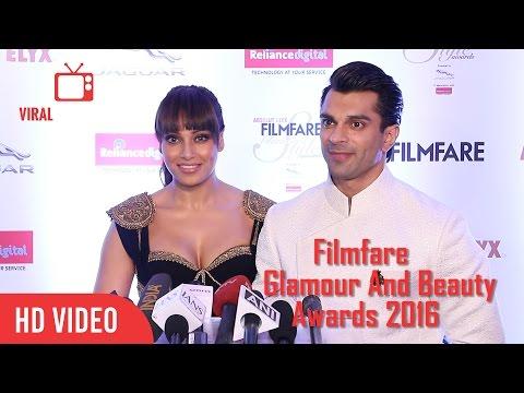 Bipasha Basu and Karan Singh Grover | Absolut Elyx Filmfare Glamour & Style Awards 2016
