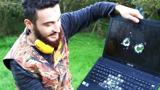 POMPALI TÜFEKLE LAPTOP PARÇALAMA - Shotgun vs Laptop