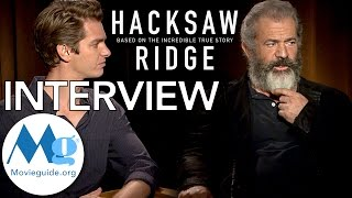 HACKSAW RIDGE Interview feat: Mel Gibson & Andrew Garfield