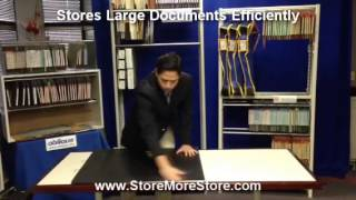 Large Document Hanging Storage For Mylar Engineering Drawings Maps Photographs Posters