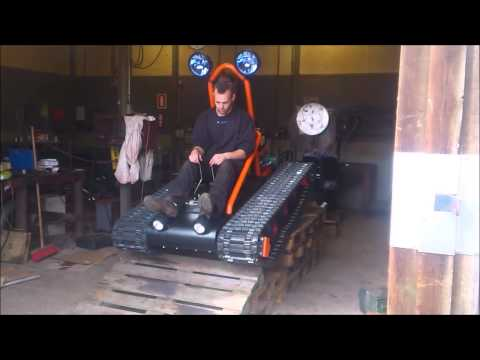 Home made tracked vehicle Finished and driving