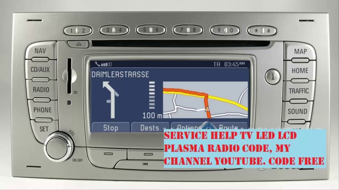 ford travelpilot fx radio code free youtube. Black Bedroom Furniture Sets. Home Design Ideas