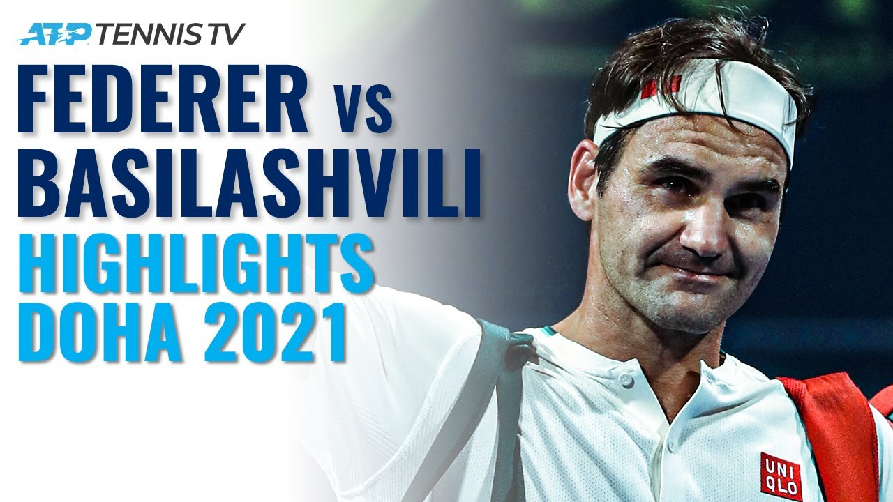 Roger Federer vs Nikoloz Basilashvili: Doha 2021 Tennis Highlights
