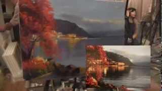 """Видеоурок Сахарова """"Как научиться рисовать пейзаж,море"""" живопись для начинающих, уроки рисования"""