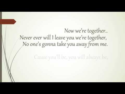 Now we're together by Bailey May (lyrics)