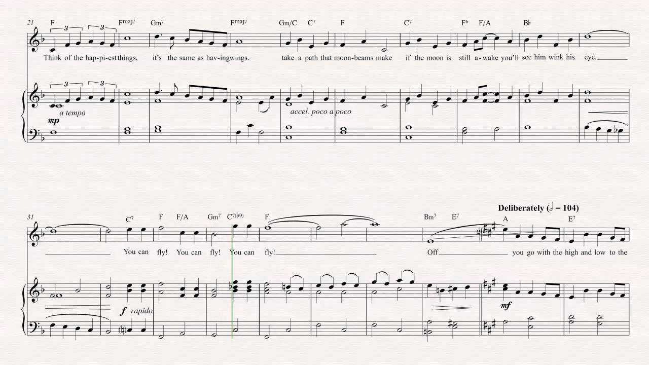 Violin you can fly peter pan sheet music chords vocals peter pan sheet music chords vocals hexwebz Images