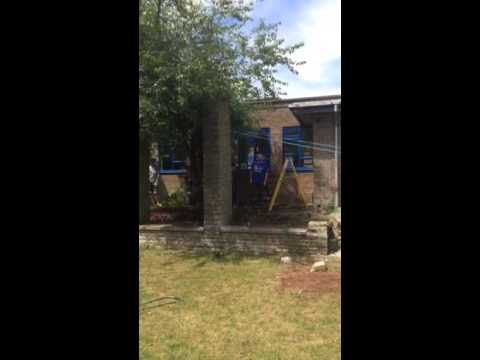Dene Magna School garden demolition 2014