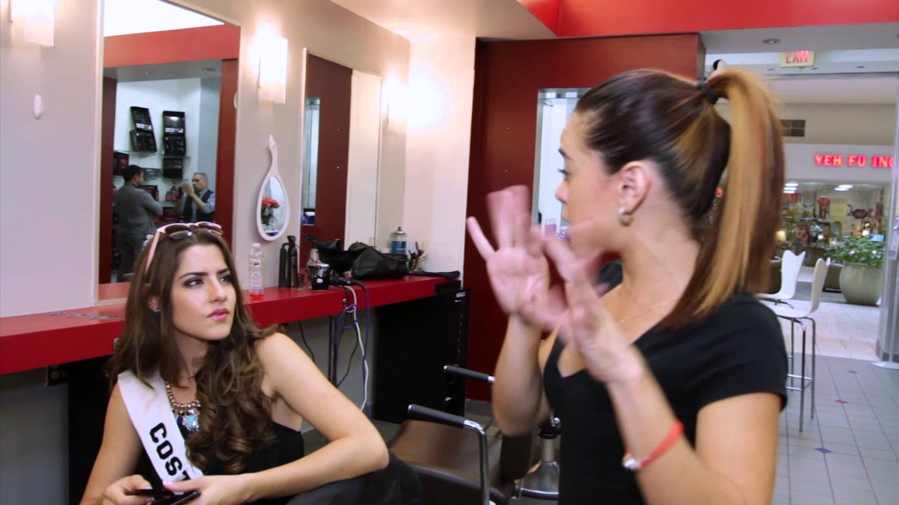 a quick stop at the mall hair salon - youtube