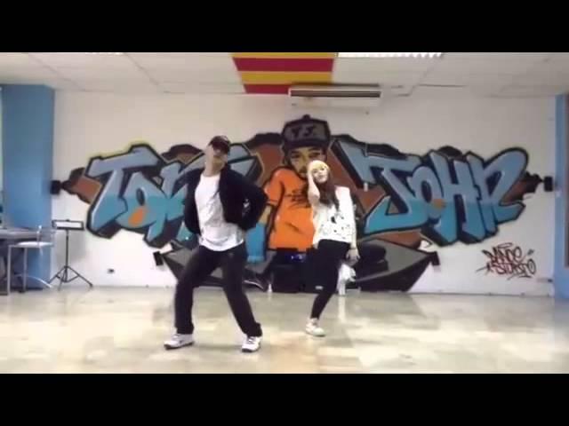 Treasure - Bruno Mars my choreographer dancing with my 1st gen student :)