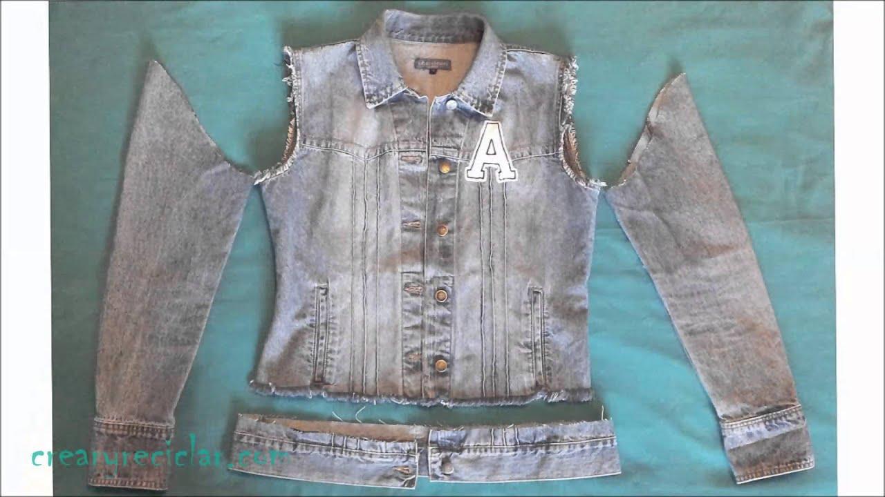 Image result for como hacer una chaqueta en jean