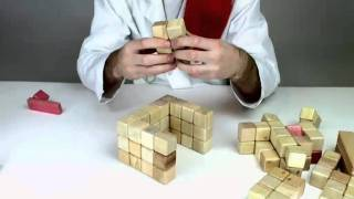 Tegu Genius Builds A Cathedral - Magnetic Wooden Building Blocks Toys.mp4