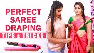 10 நிமிடத்தில் பட்டு புடவை கட்டுவது எப்படி? | Prefect Saree Draping Tips