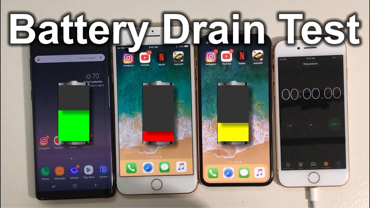 Battery Drain Test : Who last s longer iphone vs plus galaxy
