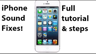 Hi all, in this video you will get a full tutorial which includes 10 steps on how to fix the iphone no sound and speaker issue. i have taken these from...