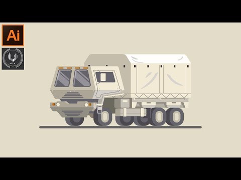 Adobe Illustrator CC Tutorial Flat Truck Design thumbnail