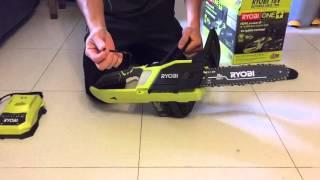 RYOBI one+ electrical chainsaw unbox