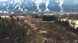 Lillooet River Logging in Pemberton, BC - DRONE FOOTAGE