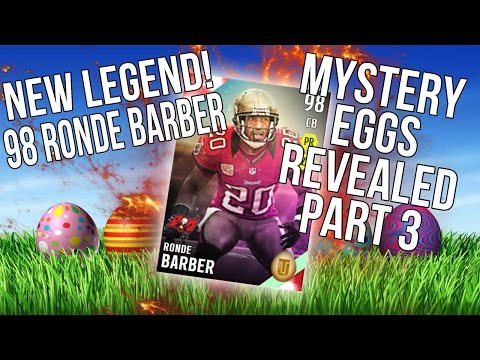 Mystery Eggs Revealed! New 98 Easter Legend Ronde Barber! ::-XBOX ONE Madden 16 Ultimate Team